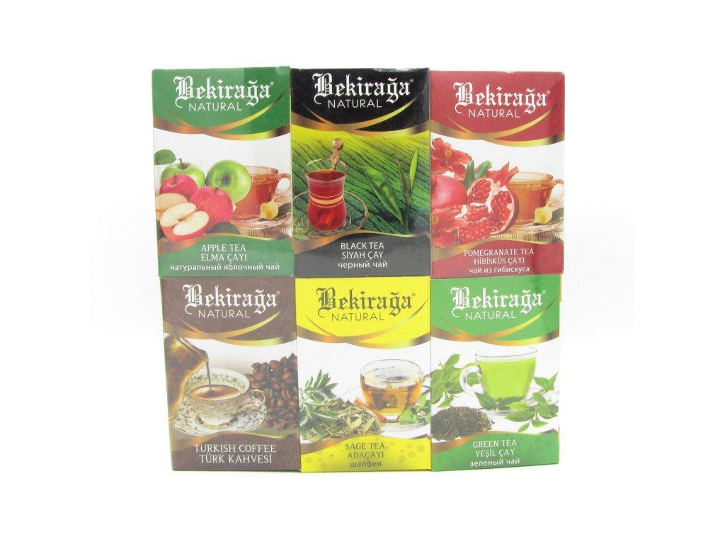 Výběr tureckých čajů Bekiraga + Turecká káva 185g
