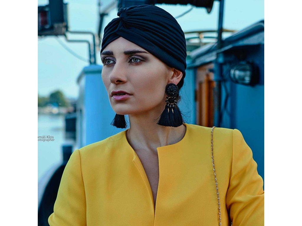 Dámský turban - černý
