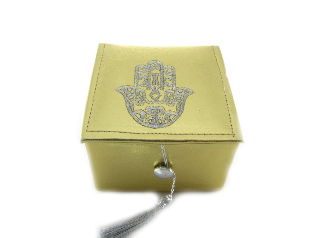Krabička s rukou Fatimy - zlatá