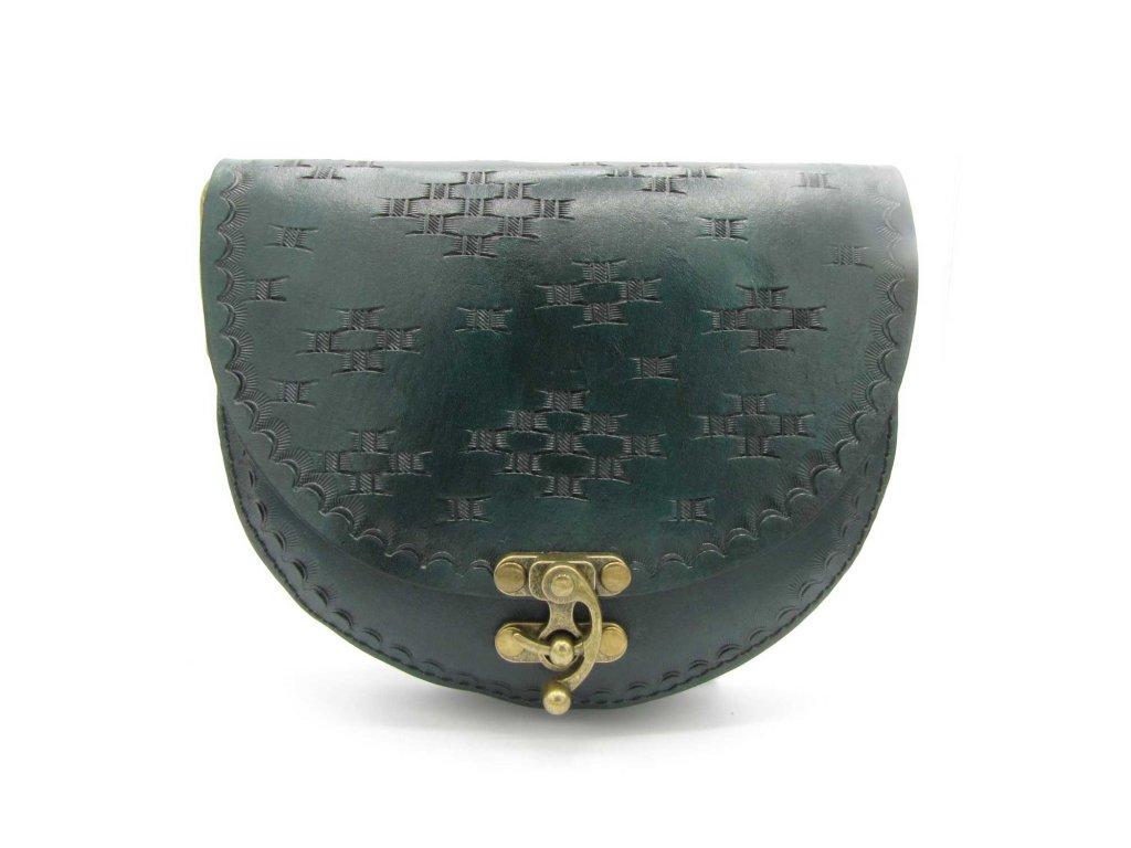 Vintage kabelka Olive - tmavě zelená