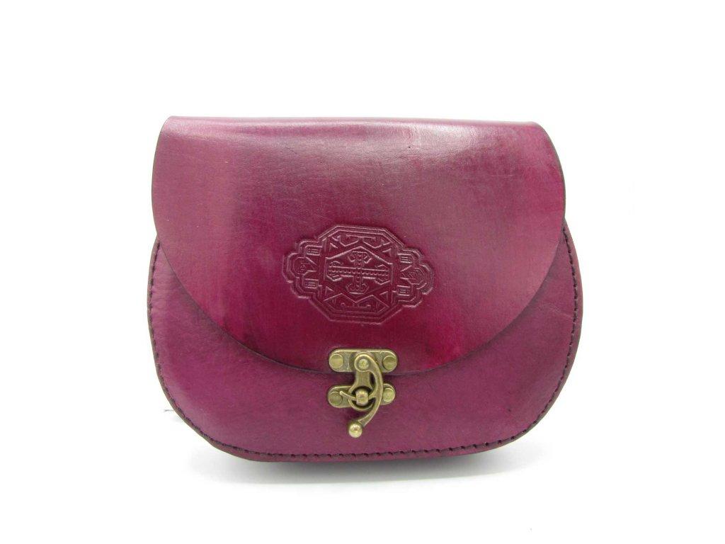 Vintage kabelka Eleanor - tmavě růžová