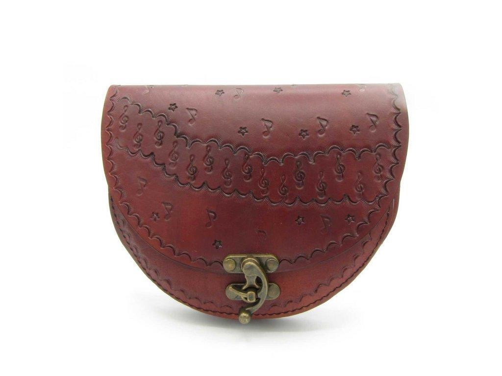 Vintage kabelka Emily - červeno-hnědá