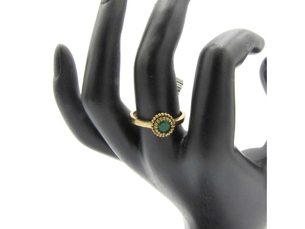 Prsten - Ayse - zelený