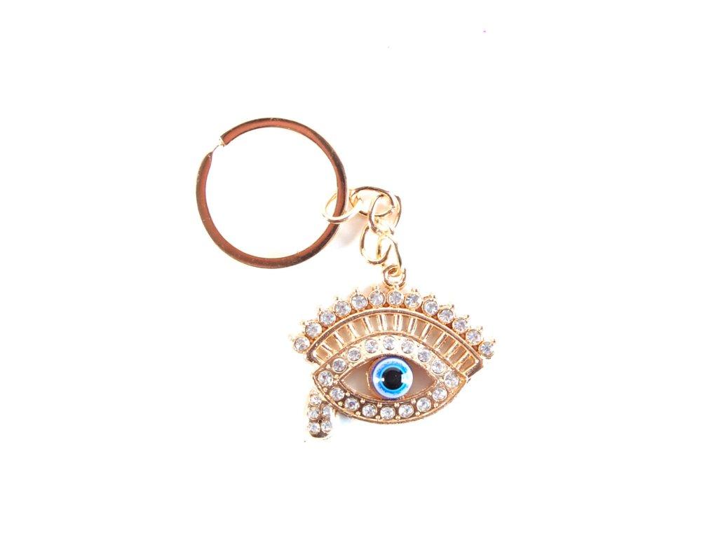 Klíčenka - Alláhovo oko - zlatá