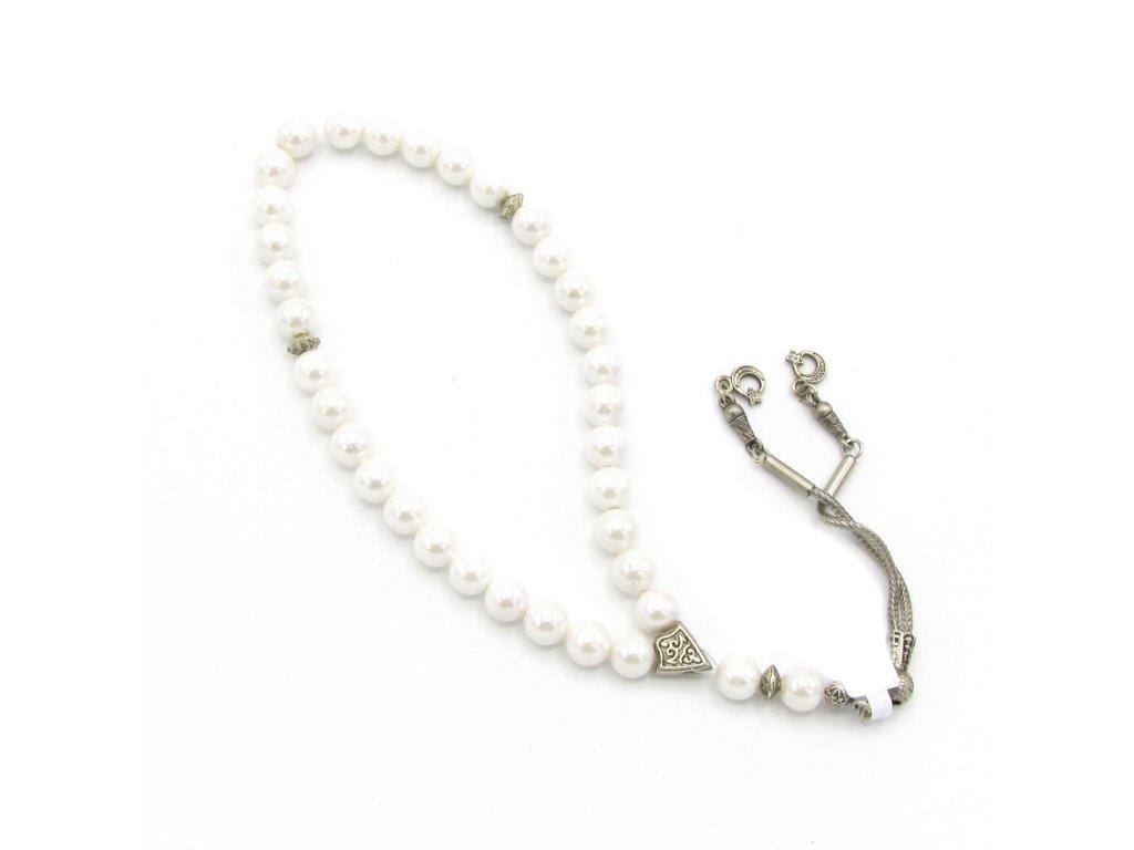 Růženec - Perla - bílý