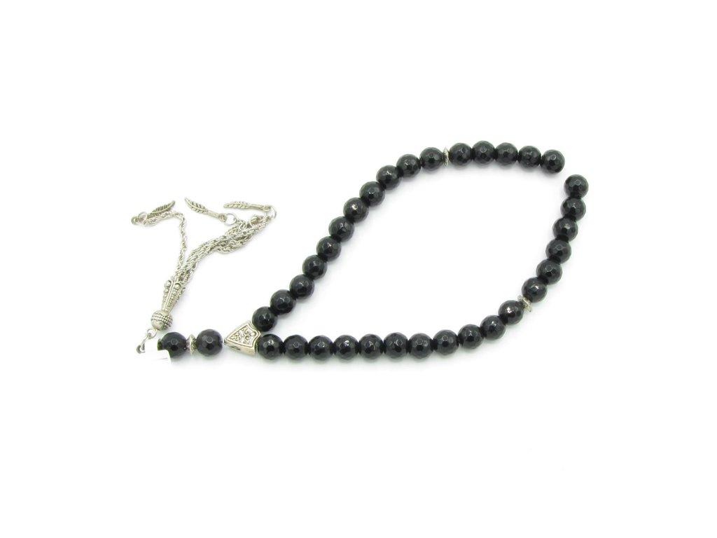 Růženec - Onyx - černý