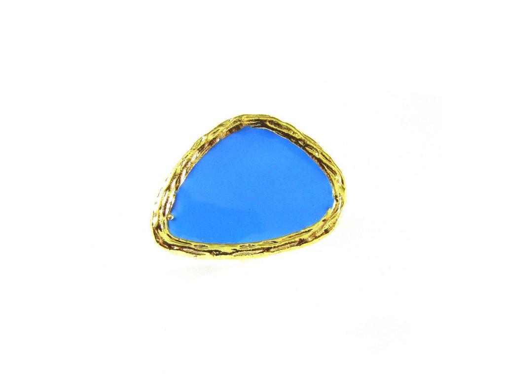 Prsten - zlato-modrý