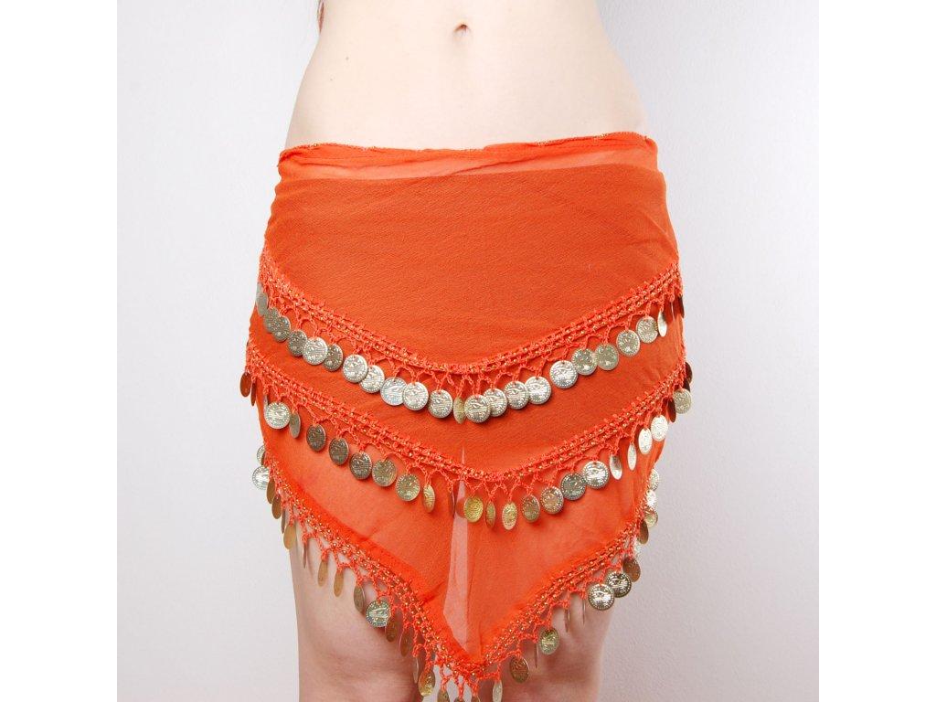 5a7fa8902bf Pásek na břišní tance - Oranžový - Smilargan