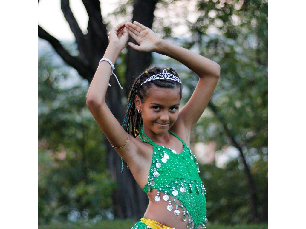 342968f3a5c Dětský kostým na břišní tance - top + kalhoty - zelený - Smilargan