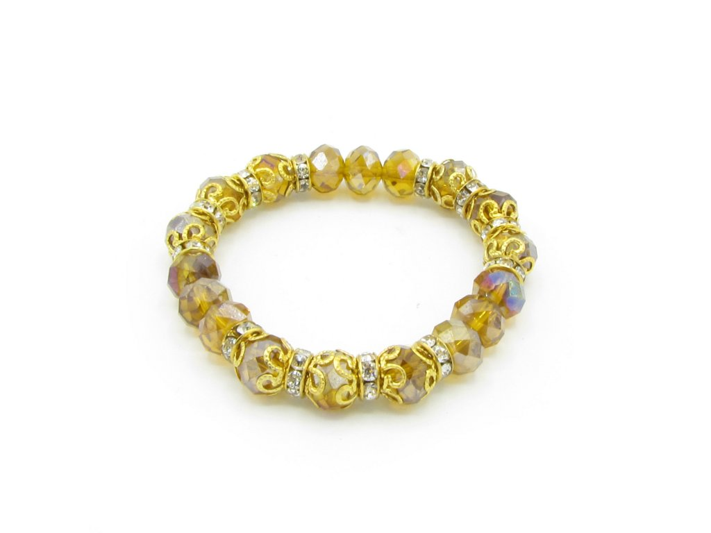 Náramek - Parlak - hnědo-zlatý