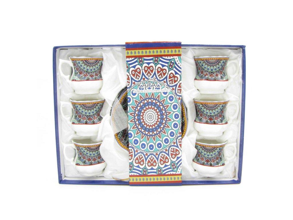 Tradiční turecký set na kávu pro 6 osob - Chini