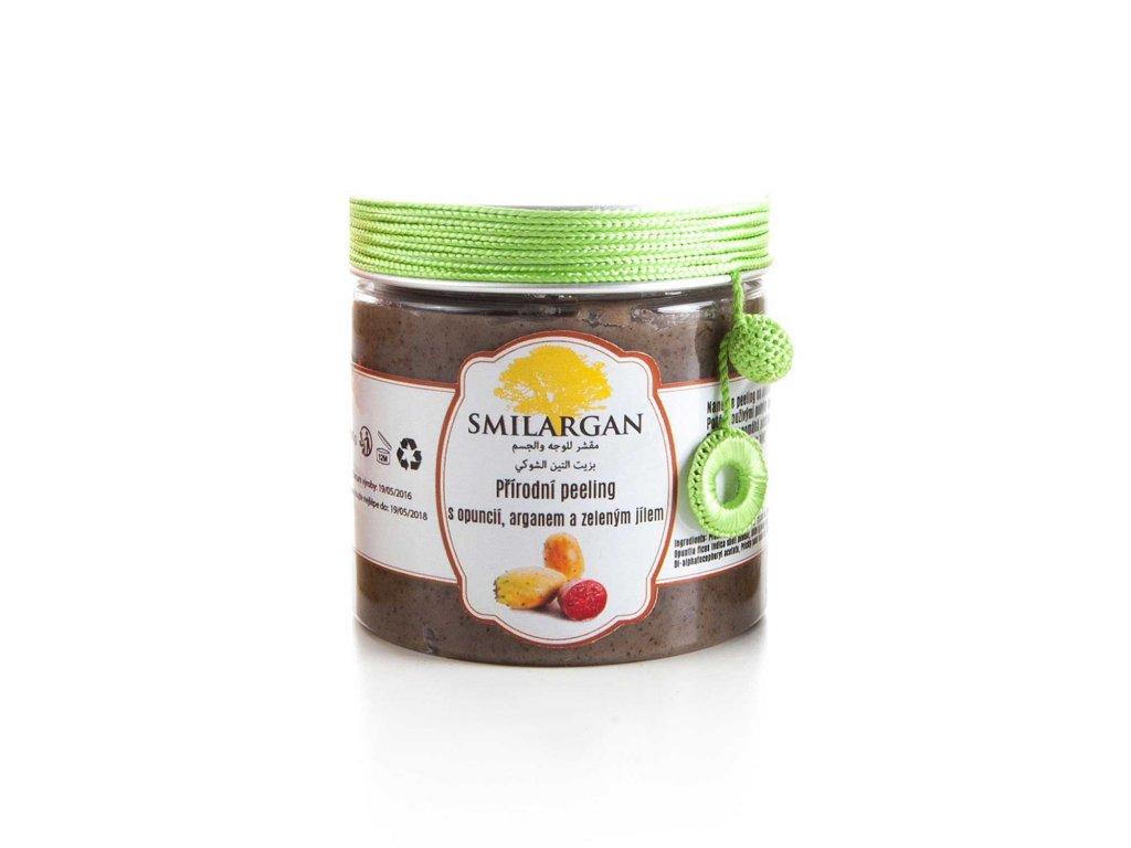 Smilargan Přírodní peeling s opuncií, arganem a zeleným jílem 200g