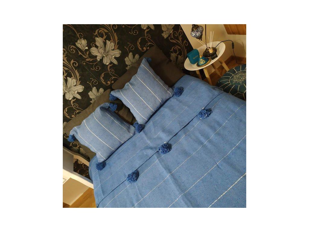 Přehoz na postel s třásněmi Denim