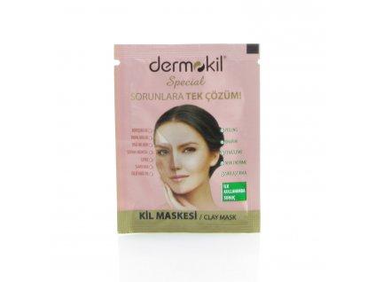 Pleťová maska s jílem pro normální pleť - Dermokil 3ml - TESTER