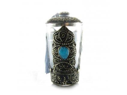Orientální svíčka Aisha - modro-šedá