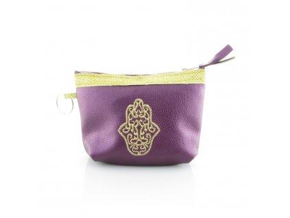 Pouzdro na klíče s rukou Fatimy - fialové