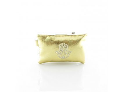 Pouzdro na klíče s rukou Fatimy - zlaté- mini