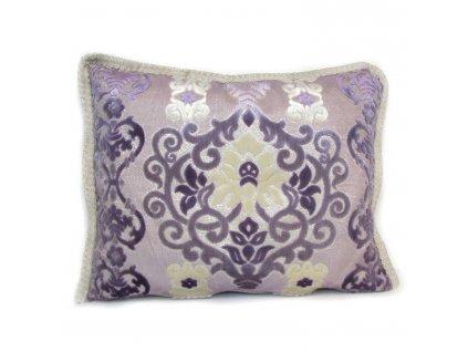 Povlak na polštář Emane - fialový s ornamenty