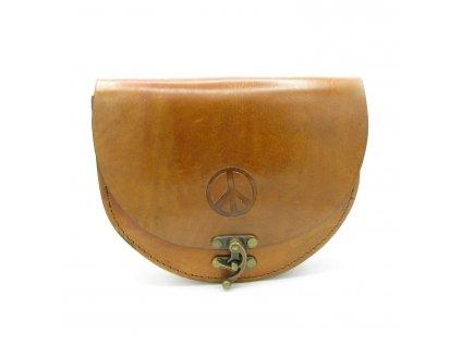 Vintage kabelka Isabella - světle hnědá
