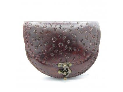 Vintage kabelka Victoria - tmavě hnědá