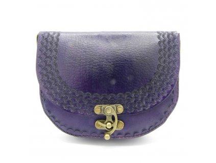 Vintage kabelka Lilian - tmavě fialová