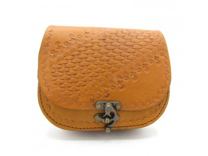 Vintage kabelka Flora - žluto-hnědá