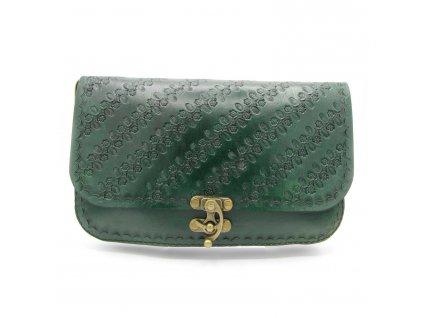 Vintage kabelka Juliet - tmavě zelená
