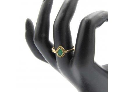 Prsten - Fatma - zelený