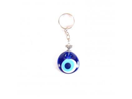 Klíčenka - Alláhovo oko - skleněný amulet