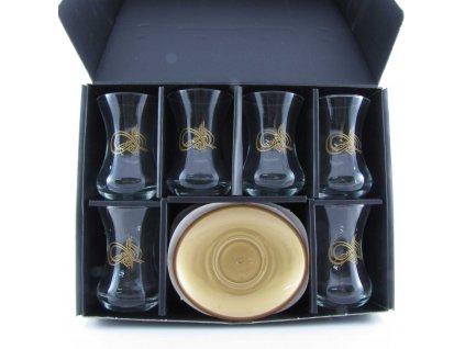 Tradiční turecký set na čaj Sultán