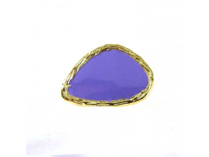 Prsten - zlato-fialový