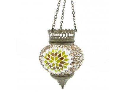 Orientální skleněná mozaiková lampa Fatma - závěsná
