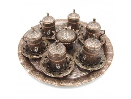 Tradiční turecký set na kávu pro 6 osob - Bakira
