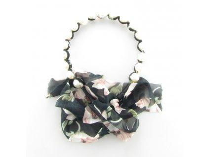 Čelenka do vlasů s perlami - Elegantní květina