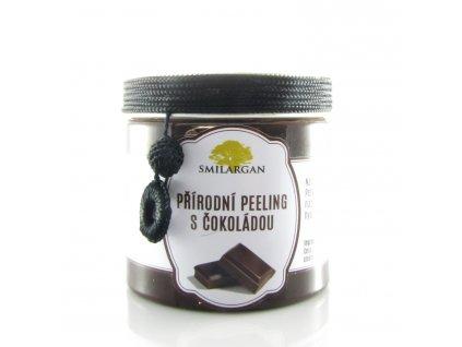 Přírodní peeling s arganem, čokoládou, cukrem a pomerančem 200g