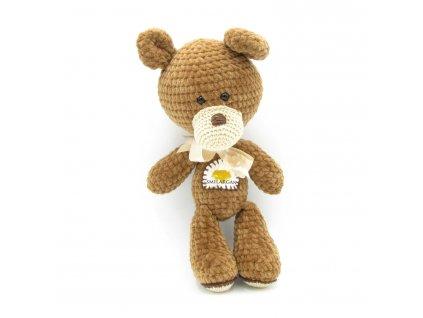 Háčkovaný medvídek Smilargan - hnědý